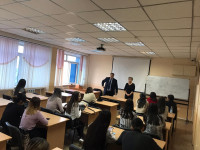 Platinum lecture by the head of the Customs Administration of the Department of State Revenues Akbiev M.K.