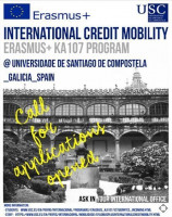 The Call for applications for Erasmus+ International Credit Mobility [KA107] with USC, in accordance with our signed Inter-Institutional Agreement for the 2019-2022 project.