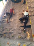The field trip to the climbing wall