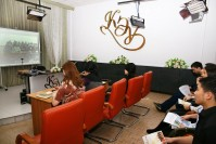 February 10, 2017 the dean, professors and students of the Faculty of Accounting and Finance in the online mode, met with students graduating classes of the village school Rostovka bukhar-zhyrau district