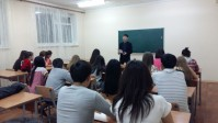 "Students of dormitory of KEUK for support of realization Plan of Nation  ""100 certain steps"""