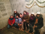 Volunteers congratulated the children on the New Year!