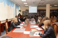 "The round table and an exhibition entitled ""Project: 100 new textbooks in the Kazakh language""."