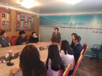 "MEETING WITH STUDENTS OF ZHEZKAZGAN COLLEGE OF ""BUSINESS AND TRANSPORTATION"" AND THEIR PARENTS"