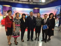 "Attention! KEU opens a series of programs ""Let's meet in KEU"" on TV channel Kazakhstan – Karaganda. On June 16, 2015 was held a live broadcast on the theme ""Applicant -2015"""
