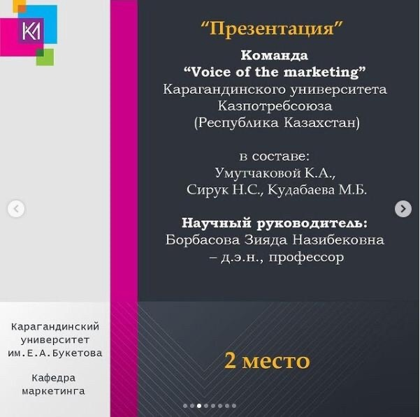 Congratulations to the winners of the II International Distance Marketing Olympiad!
